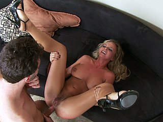 Rich blondie gets her ass punished