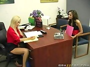 Funny office oral sex