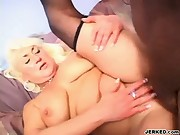 Sexy Old Woman Takes Black Cock