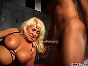 Old Woman Gets Fucked In Locker Room