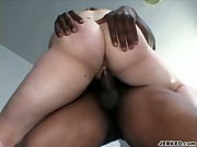 Horny Chick Sucking A Black Meat