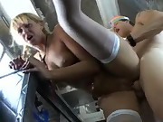 Sexy school girl nailed on the bus