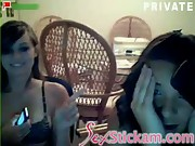 Girls caught on webcam while chating