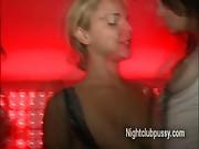 Whore strip on dancefloor