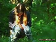 Amateur movie of my public peeing girl