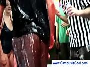 College girls wrestling in yello