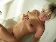 Megan morning bathroom masturbation