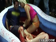 Jello wrestling party