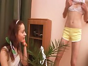 Crazy teen girls having fun