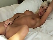Megan masturbation in the bed