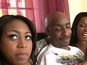 Ebony delights amateur blowjob