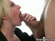 Fake Titty Blonde MILF