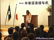 Japanese babe during graduation day 2 by JPflashers