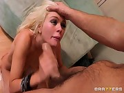 Alexis Ford worships big cock in her face
