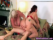 Bbw plumper ffm fucking threesome