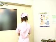 Hot asian nurse gets a cumshot