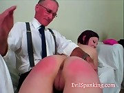 Grandpa teaches us some good old spanking