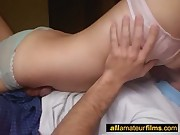 Real hot amateur couple homevideo scene