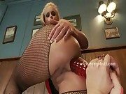 Nasty waitresses with big sexy hot butts caught playing by perve