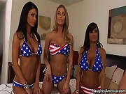 Jessica Jaymes , Lisa Ann , Nicole Aniston Forth of July!