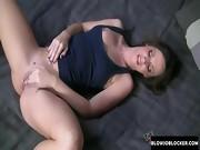 Brunette babe loves to suck cock