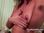 Horny mature wife gives kinky solo