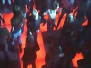 My european girl dancing in the club
