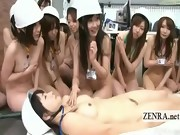 Subtitled ENF group of Japanese office lesbians CPR