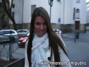 Yummy secretary boned for cash in public