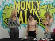 Amateur Girls Dipping Tits In Chocolate At Money Talks Stunt