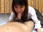 Tokyo schoolgirl gives a blowjob
