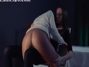 Lesbian strap on hardcore penetrate
