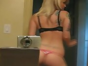 Hot Blonde Teen Performs A Striptease For Her BF In The Bedroom