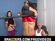 Sexy pole dancer Sophia Fiore ends up fucking her client