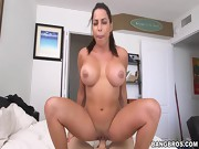 Latina with Big Tits Rides on Cock